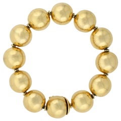 Vintage 14 Karat Yellow Gold Ball Bracelet