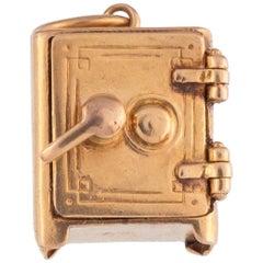Vintage 14 Karat Yellow Gold Bank Vault Charm