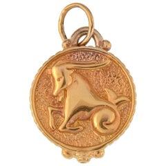 Vintage 14 Karat Yellow Gold Capricorn Astrology Zodiac Charm