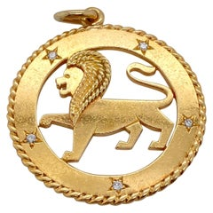 Vintage 14 Karat Yellow Gold Cartier Leo Charm