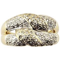 Vintage 14 Karat Yellow Gold Diamond Knot Ring