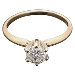 Vintage 14 Karat Yellow Gold Diamond Ring