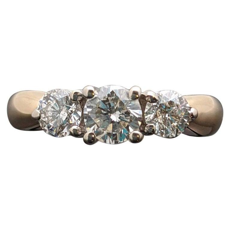 Vintage 14 Karat Yellow Gold Diamond Ring For Sale