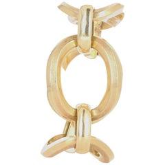 Vintage 14 Karat Yellow Gold Large Oval Link Bracelet