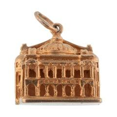 Vintage 14 Karat Yellow Gold Paris Opera House Charm