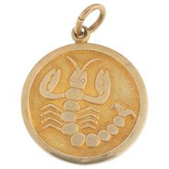 Vintage 14 Karat Yellow Gold Scorpio Zodiac Astrology Charm