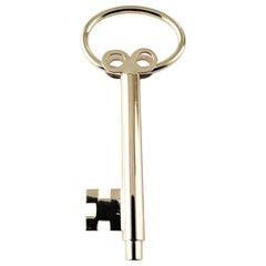 Vintage 14 Karat Yellow Gold Skeleton Key Key Ring