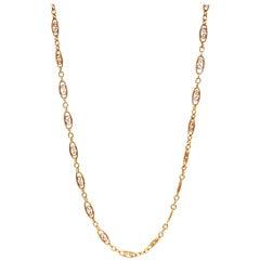 Vintage 14 Karat Gold Fancy Link Necklace