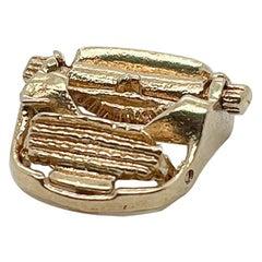 VIntage 14K Gold Typewriter Charm for a Bracelet