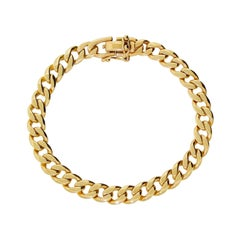 Vintage 14k Solid Gold High Quality Men's Miami Cuban Link Bracelet 8 in 30.5gr