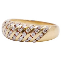 Vintage 14K Yellow Gold 0.52 ct Diamonds Ring size 8