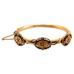Vintage 14K Yellow Gold Bangle Bracelet