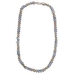 Vintage 14-Karat Gold Bead Necklace, 20th Century