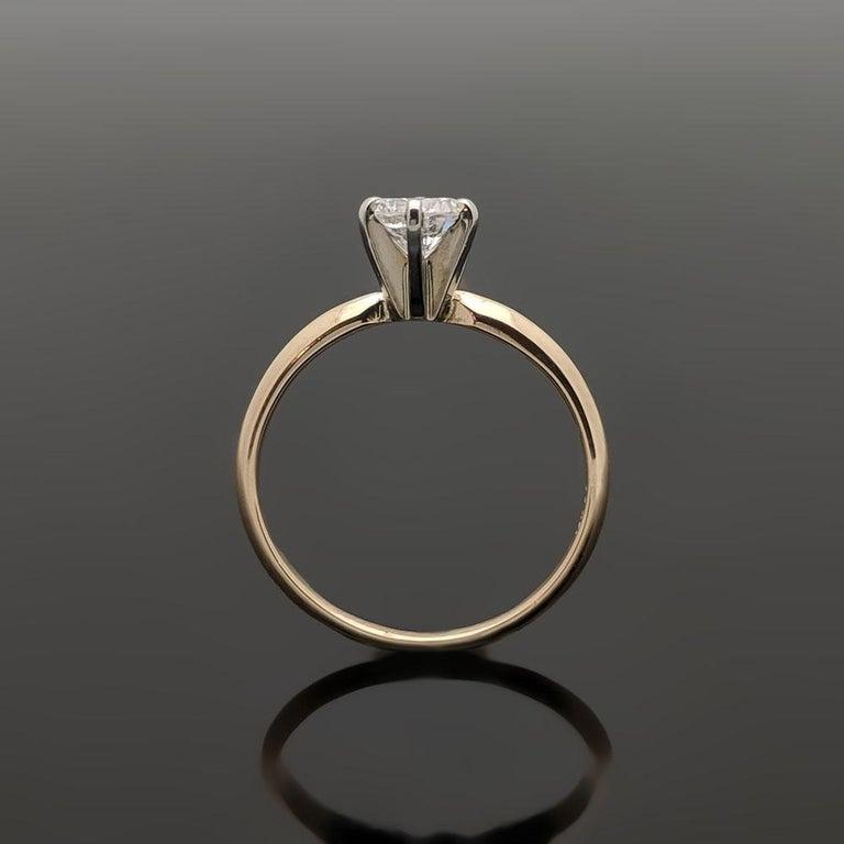 Vintage 14 Karat Yellow Gold Diamond Ring For Sale 1