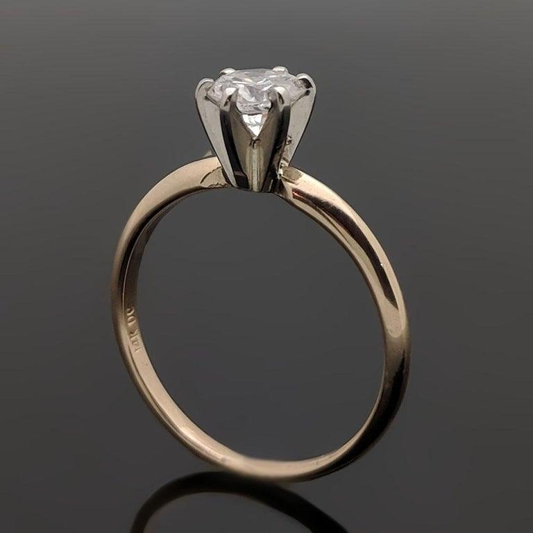 Vintage 14 Karat Yellow Gold Diamond Ring For Sale 2