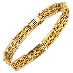 Vintage 15 Carat Gold Gate Bracelet