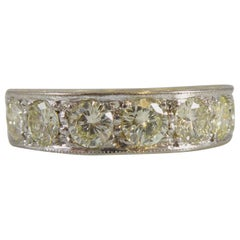 Vintage 1.68 Carat Diamond Eternity Ring