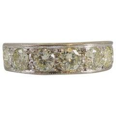 Vintage 1.68 Carat Diamond Eternity Ring