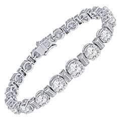 Vintage 17.65 Carat Total Diamond Bracelet, Collection Quality, GIA Certified