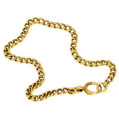 Vintage 18 Carat Curb Chain Bracelet