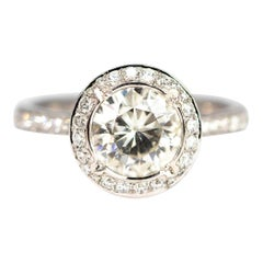 Vintage 1.8 Carat Diamond and 18 Carat White Gold Solitaire
