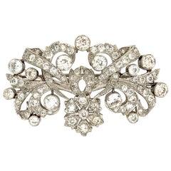 Vintage 18 Carat Diamonds Platinum Brooch