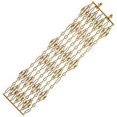 Vintage 18 Carat Gold Cuff Bracelet
