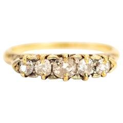 Vintage 18 Carat Gold Diamond Five-Stone Ring