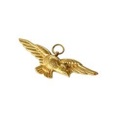 Vintage 18 Carat Gold Eagle Pendant