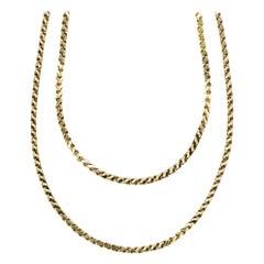 Vintage, 18 Carat Gold, Loop in Loop, Long Chain