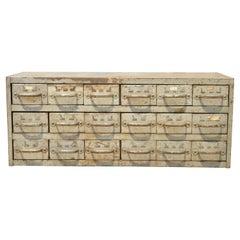 Vintage 18 Drawer Steel Metal Industrial Green Machinist Tool Chest Cabinet