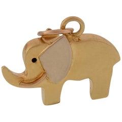 Vintage 18 Karat Elephant Charm