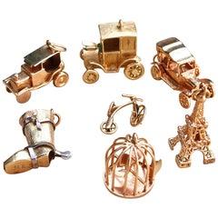 Vintage 18 Karat Gold Charms