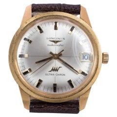 Vintage 18 Karat Gold Longines Ultra-Chron Automatic Wrist Watch, 1970s