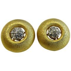 Vintage 18 Karat Gold-Plated Clip-On Earring