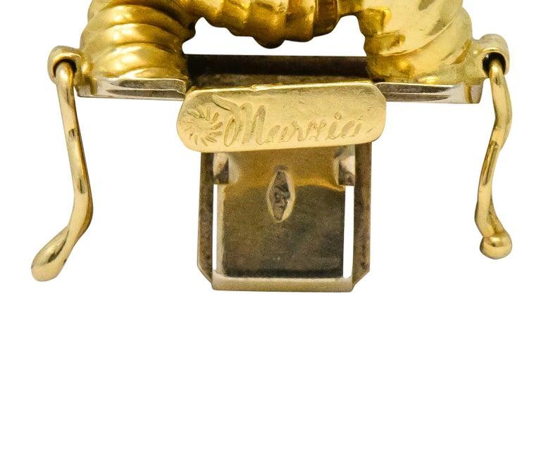 Vintage 18 Karat Gold Textured Curb Link Bracelet 1