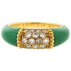 "Vintage 18 Karat Gold Van Cleef & Arpels Chalcedony Diamond ""Philippines"" Ring"