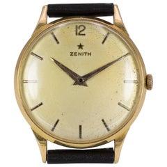 Vintage 18 Karat Gold Zenith Wristwatch, 1950s