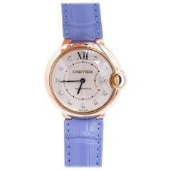 Vintage 18 Karat Rose Gold Cartier Ballon Bleu Watch