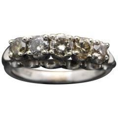 Vintage 18 Karat White Gold Diamond Ring