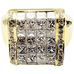 Vintage 18 Karat Yellow Gold and Diamond Ring