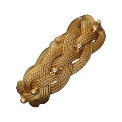 Vintage 18 Karat Yellow Gold Braided Mesh Bracelet