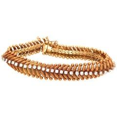 Vintage 18 Karat Yellow Gold Diamond Bracelet