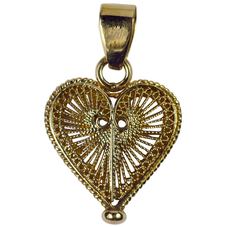 Vintage 10 Karat YellowRose Gold and Diamond Pendant #3750