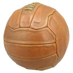Vintage 18-Panel Leather Football, Soccer Ball