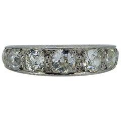 Vintage 1.85 Carat Diamond Eternity Ring, circa 1930s-1940s, Platinum