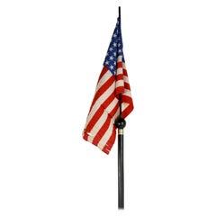 Vintage 1890 44 Star Wyoming Statehood Cane Flag