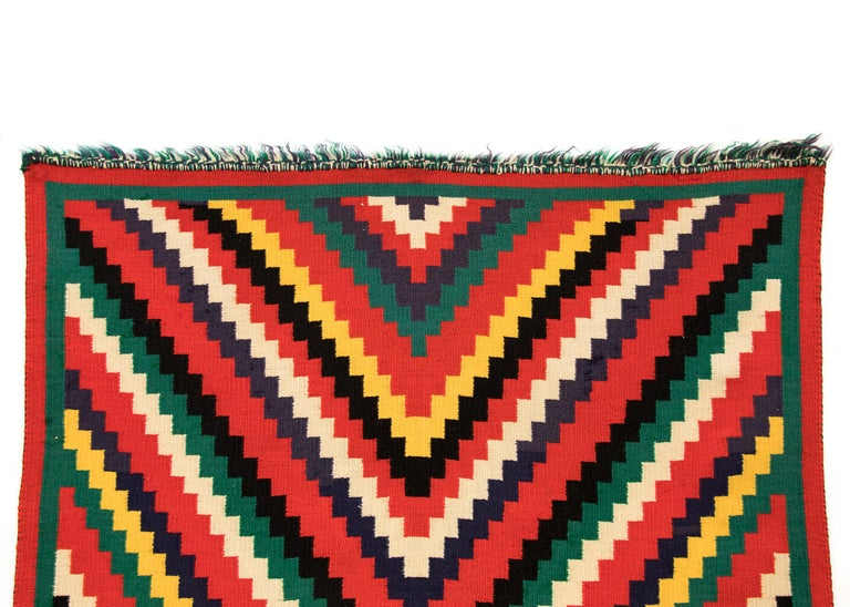 Hand-Woven Vintage 1890s Navajo Germantown