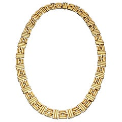 Bulgari 18ct Yellow Gold Collar Necklace circa 1980's