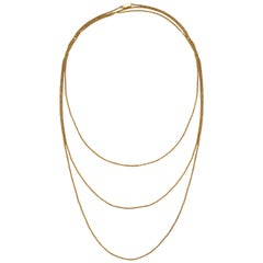 Vintage 18ct Yellow Gold Long Chain